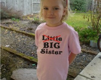 2 Little Big Biggest Sister shirts Custom Design