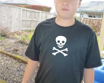 Skull and crossbones shirt custom youth design