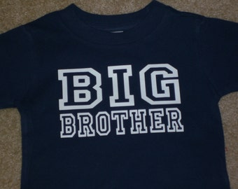 Big Brother shirt Big Brother Shirt, adult size, pregnancy reveal, baby announcement shirt, sibling shirts, pregnancy announcement to family