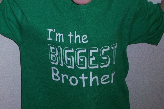 Youth Biggest Brother Shirt New By Oodlesdecals