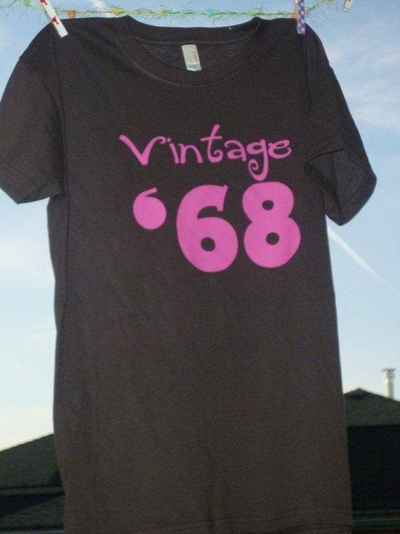 vintage 68/58 55th/45th birthday shirt great gift