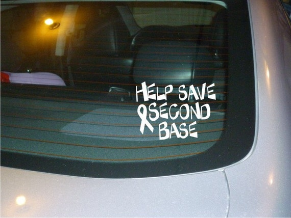 Help Save 2nd Base car decal vinyl sticker NEW