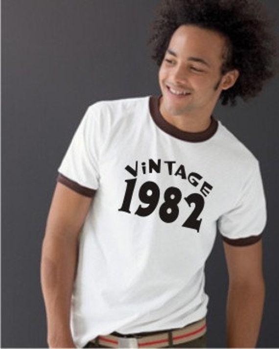 Vintage Birthday Shirt 1982 from Etsy