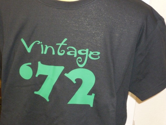 Vintage 72' Birthday shirt NEW