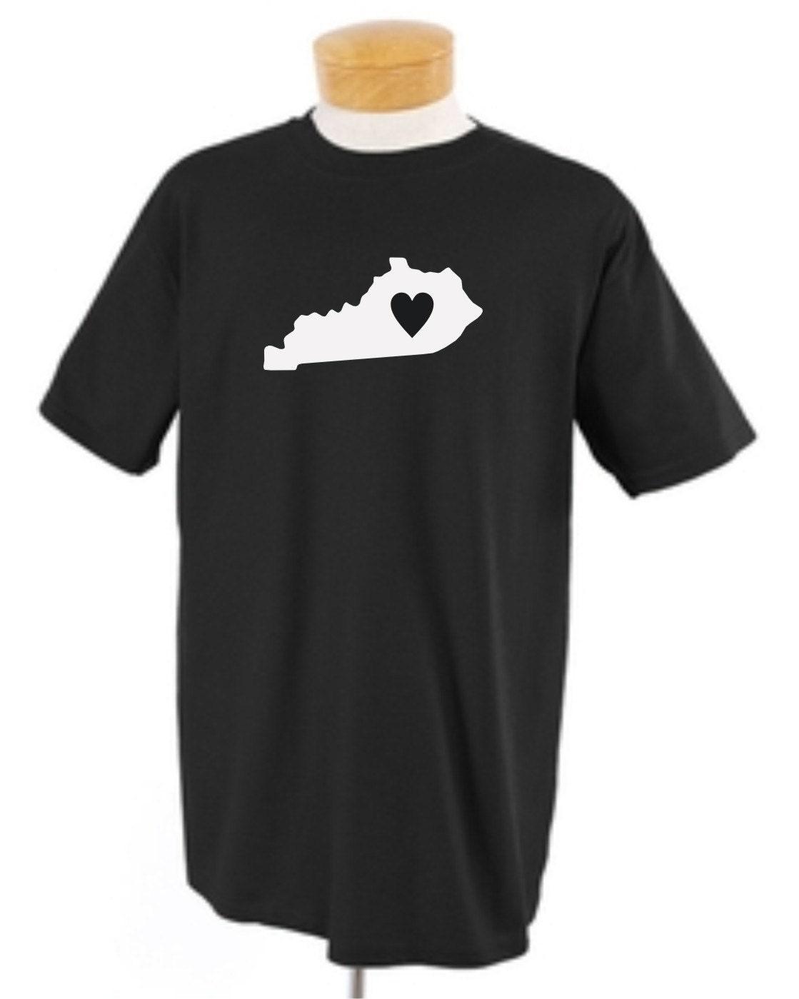 Adult shirt kentucky state custom tshirt new for Custom t shirts lexington ky