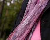 THUNDERSTORM AT SUNSET wool silk cobweb felt lace thin scarf wrap shawl wine rose purple plum lilac blue felted merino fiber woman womans women womens scarfs scarves