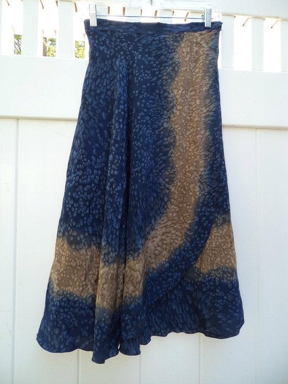 "FREE SHIP handmade silky amoeba skirt 26"" waist"