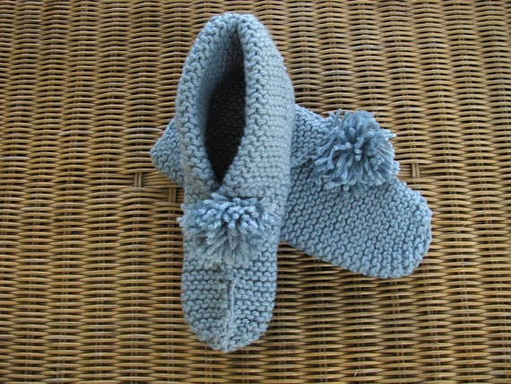 The All Day Cottage Footie Medium/Large-Soft Sea Blue
