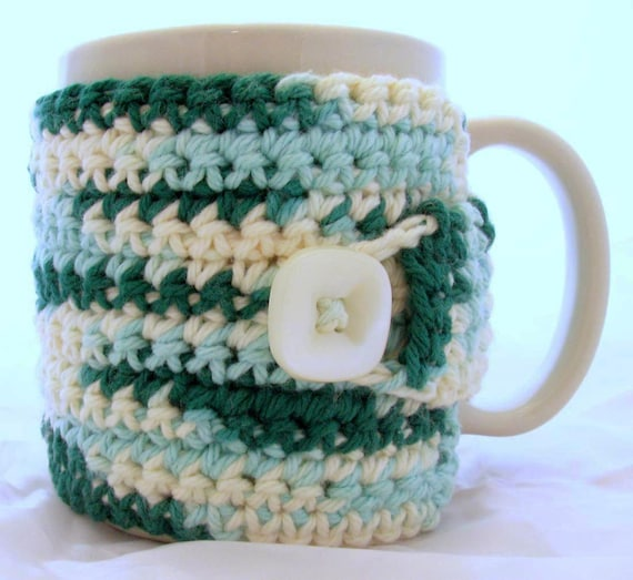 Coffee Cup or Mug Cozy - Shades Of Green