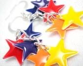Earrings - Rainbow Cascade of Stars - Candy Drops
