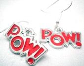 POW Charm Earrings