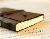 Leather Journal Handmade in Dark Chocolate Brown Reclaimed Leather 6 x 4