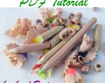 Polymer clay Colored pencils Tutorial , eBook ,PDF