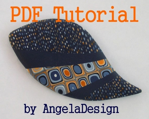 PDF Tutorial - eBook - Polymer Clay Quilted Brooch Tutorial
