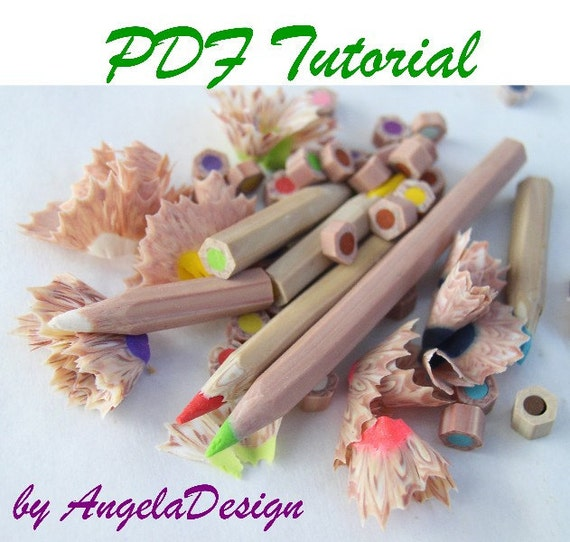 eBook PDF Tutorial  - Polymer clay pencils Tutorial
