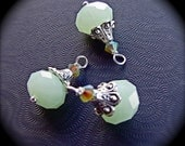 faceted jade tone sea green handmade charms