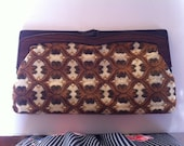 FREE SHIPPING - Vintage 1970's Tapestry Clutch Bag