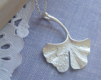 Gingko Leaf Necklace.