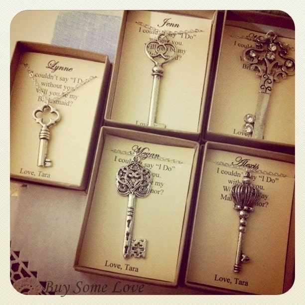 Wedding Day Gifts For Bridesmaids : Skeleton Key Bridesmaids Thank You Gifts Ask Bridal Party