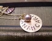 Friendship Necklace... Soul Friend Necklace... Anam Cara in antique brass