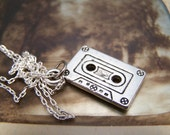 Cassette Tape Necklace in Pewter . perks of being a wallflower . mix tape