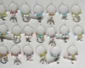 Bird Wine Glass Charms-RESERVED for cablonde13