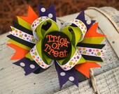 Trick or Treat Sassy Halloween Bow