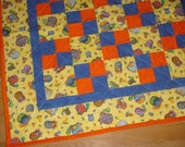 Multi Colored TURTLES SNAILS Handmade Baby Toddler Quilt Finished