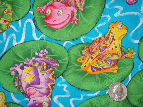TOSSED FROGS by FabriQuilt - Cotton Quilting Fabric