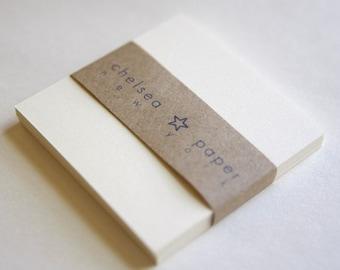 "Natural White Flat Cards(2.5"" x 2.5"") for Mini Envelopes 25/Pk"
