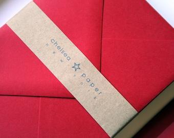 Firecracker Red 4 Bar Envelopes 25/PK