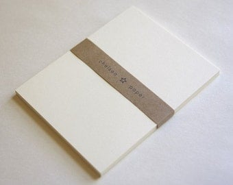 "Natural White Flat Cards(4.25""x5.5"") for A2 25/Pk"
