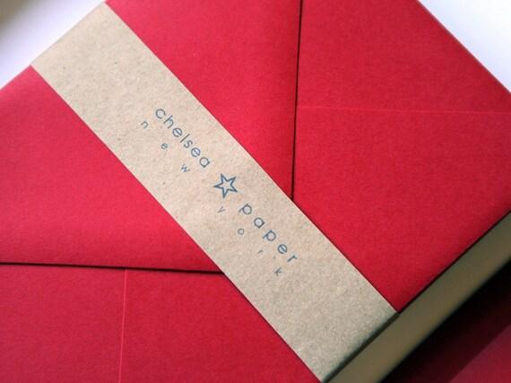 Firecracker Red A2 Envelopes 25/Pk