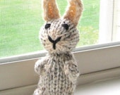 Knit Toy Amigurumi Bunny, Hand Knit Animal Toy, Miniature Stuffed Animal Plush Toy, Kids Toy