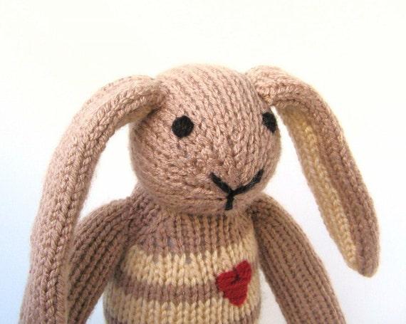Lop Eared Bunny Rabbit Knit Bunny Toy Stuffed Animal Plush Toy Children