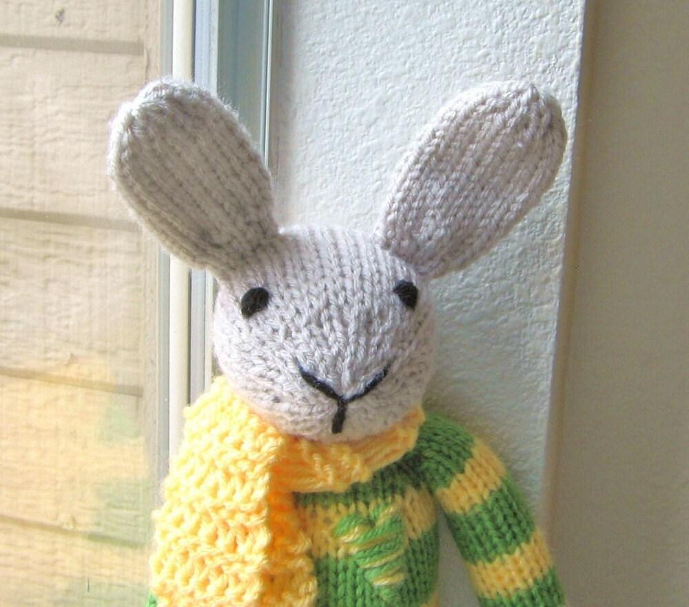 Rex The Rabbit Hand Knitted Handmade Plush Toy Stuffed Animal