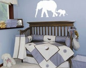 Elephants vinyl wall decal art
