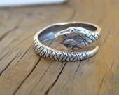 Anaconda - LAST ONE -  Clearance - Vintage Stamping Curled Snake Ring