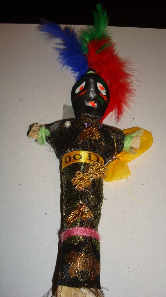 Authentic Large New Orleans Voodoo Doll in Black by JimRabun
