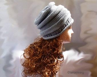Knitting pattern hat slouchy n 23 in PDF