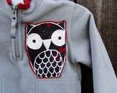 Gray Owl Fleece Jacket