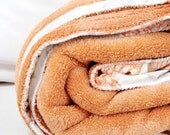 RESERVED for U1der005 Flights of Butterflies OOAK Micro fleece vintage sheet blanket hand made by lovelynestdesigns