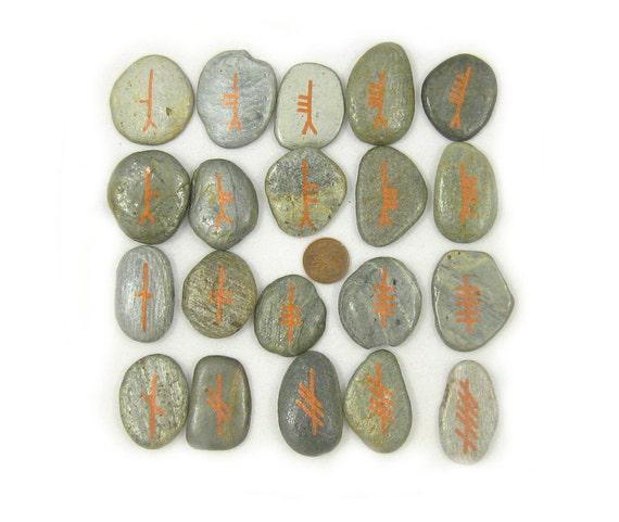 Ogham Runes - Rune Set - 20 Stones - Set 4