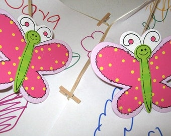 Pair of BUTTERFLY Art Holders for Children's Art