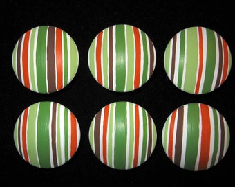 Carter's Tree Tops - Just Stripes  - Set of 6 Hand Painted Knobs