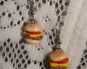Hand-crafted Tasty Cheeseburger Dangle Earrings