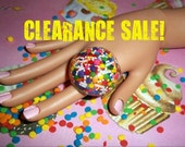 XX SALE-Sugar Overload Candy Sprinkles Big Blingy Resin Ring XX
