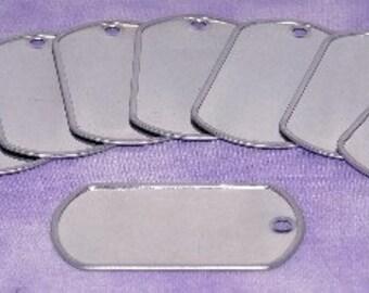 Dog Tag Silver Color 2x1-1/8 inch  (Pkg of 10) SALE SALE