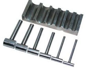 U-Channel Metal Block With 6 Corresponding Hammers