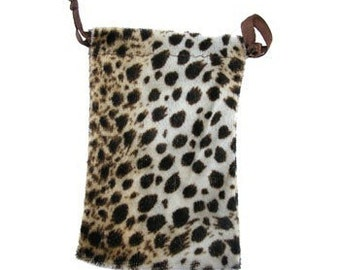Lot Of 12 Leopard Design Drawstring Pouch Gift Bags  SALE
